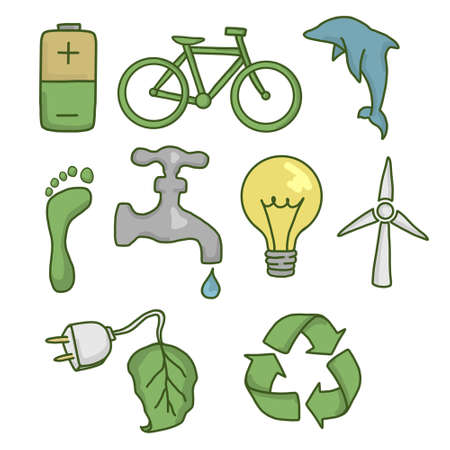 Eco Friendly Set Icons