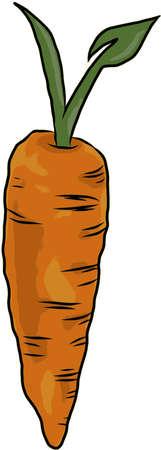 Vegan Carrot Symbol Illustration