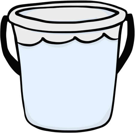 Bucket of water illustration