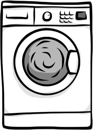Washing Machine Illustration Stock Illustratie