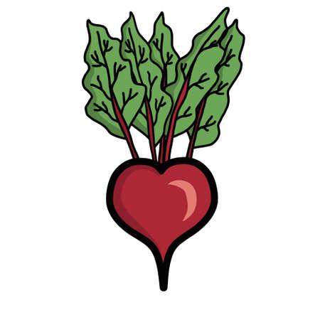 Heart shaped beetroot Stok Fotoğraf