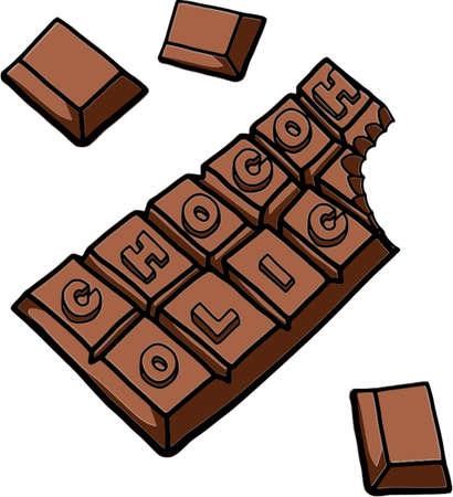 Chocoholic isolated illustration