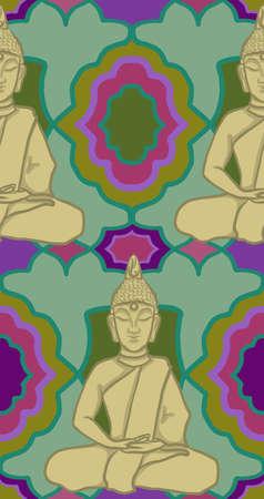 Buddha Buddhist Statue Pattern