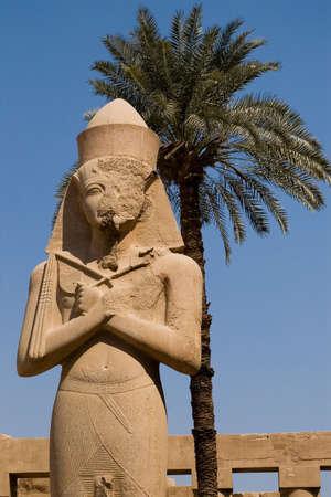 mummification:  Statue of Ramses II in Karnak, Luxor, Egypt
