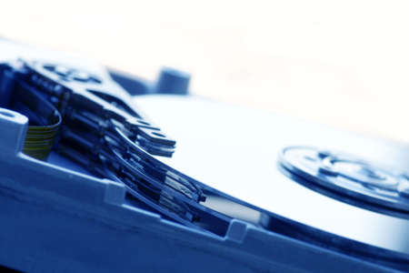 detail of hard disk drive Stock Photo