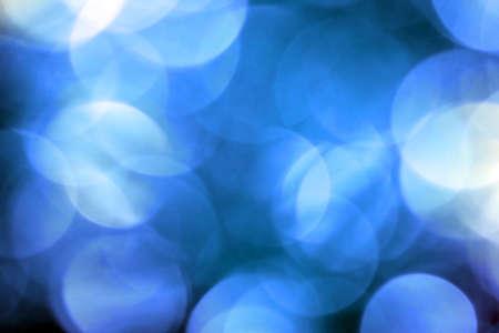 青の円形の反射
