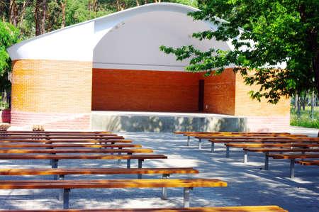 open theater wood seats. Outdoor theater. Stock Photo - 5127875