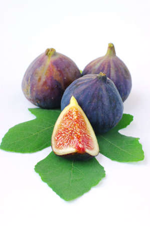Fresh figs on white background Stock Photo