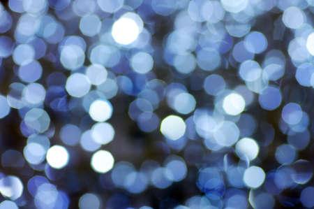 円形の反射。Blured クリスマス ライト。