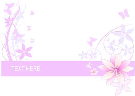 Abstrakte Blumen Hintergrund mit Platz für Ihren Text. Blumen von magnolia Illustration