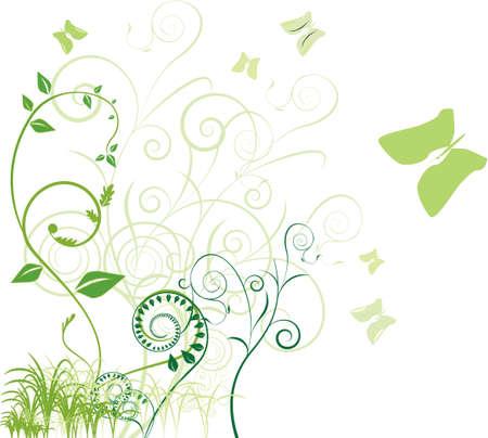 Flower background with bud, element for design, illustration. Vector