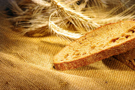 yellow flour: bread and wheat ears