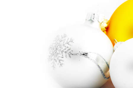isolataion: christmas balls isolated on white background  Stock Photo