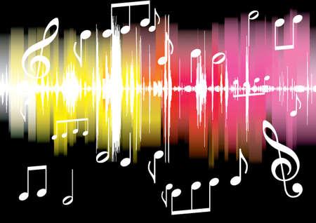 未来の抽象的な熱烈な音楽の背景のイラスト
