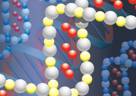 metall: Molecules of DNK with metall background