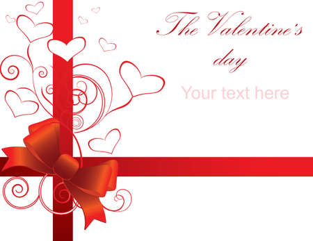 vector valentine background with heart Stock Vector - 8605394