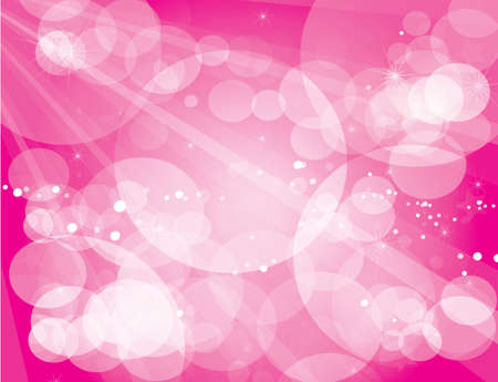 Abstract glowing light on a pink background  Vector