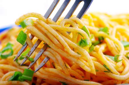 Nudeln mit Gemüse  Lizenzfreie Bilder