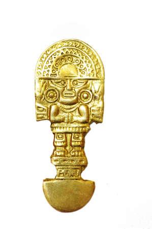 INCA indischen Ritualmesser Gold über white background