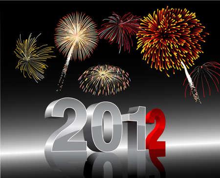 新しい年 2012  イラスト・ベクター素材