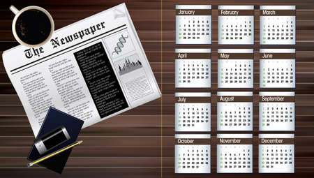 business calendar of 2013 Vector