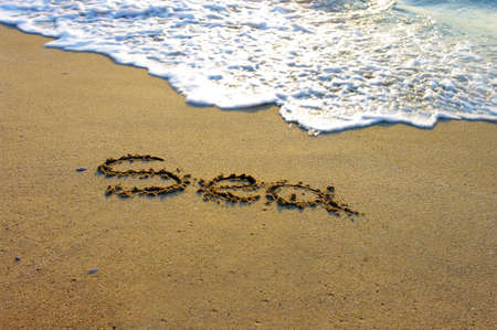 The Word Sea written in the Sand on a Beach  Stock Photo - 17753483