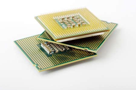 microprocesadores: Microprocesadores aisladas sobre fondo blanco