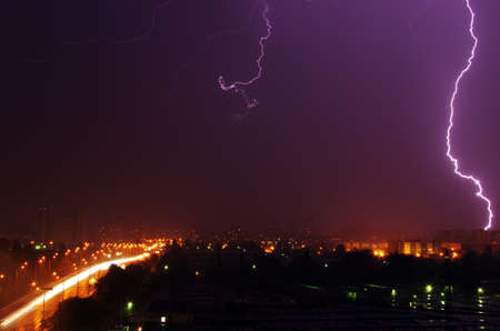 thunderstorm over the city Stock Photo - 20197101