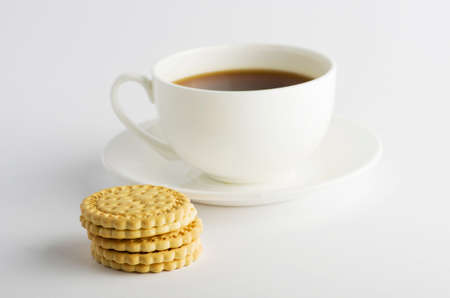 Cup of tea with cookies photo