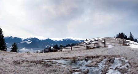 winter calm mountain landscape photo