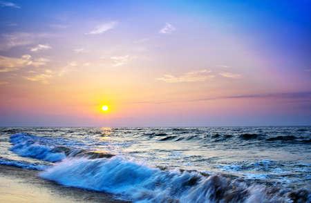 Landschaft Meer Sunrice goldenen Himmel