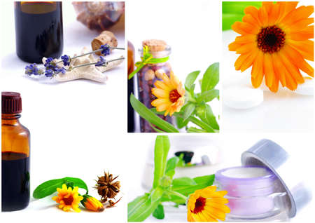 cures: Various homeopathy related images in a collage