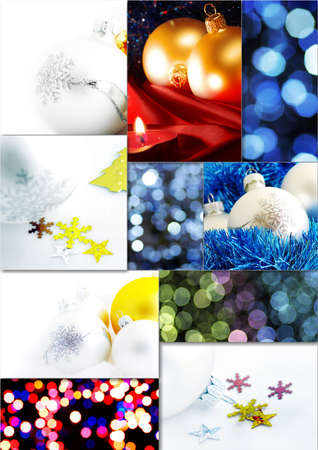 candle light table setting: Collage of fine Christmas table decorations