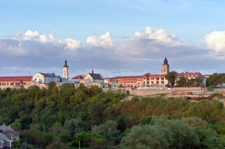 Kamyanets-Podilsky is a city located on the Smotrych River in Ukraine.