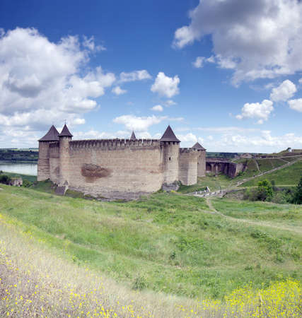 Medieval fortress in the Khotyn town West Ukraine.