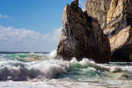 The Portuguese coast of The Atlantic ocean.Praia do Lourical