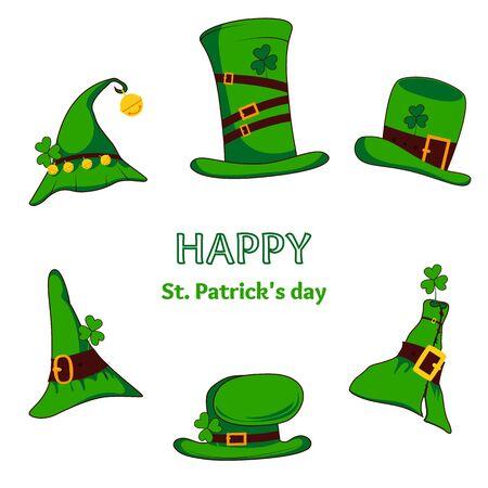 celebration cartoon: leprechaun hat isolated. Vector illustration