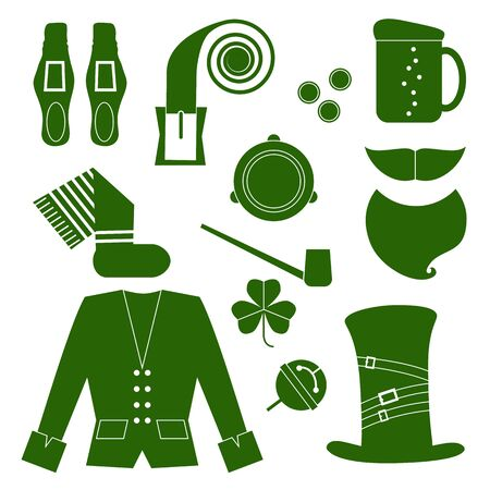 st  patrick's day: St. Patricks Day vector design elements set Illustration