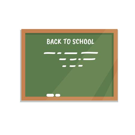 school class: Vector illustration green blackboard isolated flat style Illustration