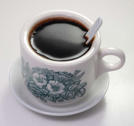 Traditional chinese nanyang style coffee isolated on a white background