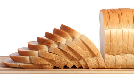 Fresh and delicious handmade white bread  on a cutting board