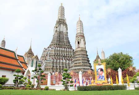 Huge and largest pagoda of temple Wat Arun in Bangkok