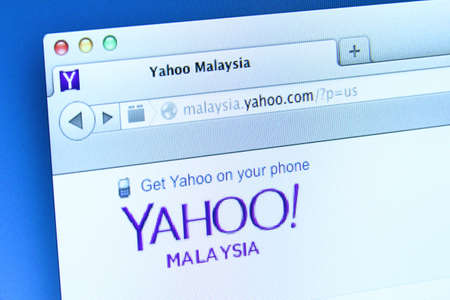 incorporates: Johor, Malaysia - Dec 11, 2013  Photo of Yahoo webpage on a monitor screen  Yahoo  is an Internet portal that incorporates a search engine, Dec 11, 2013 in Johor, Malaysia