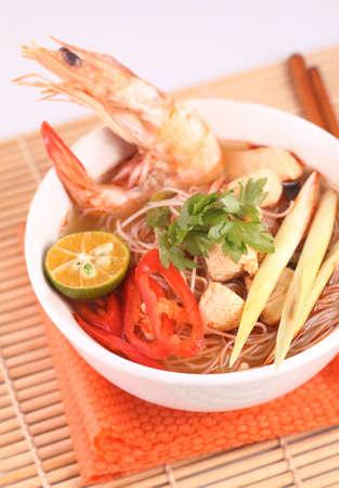 Tom Yam  Kung soup  Stock Photo