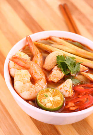 Tom Yam  Kung soup  photo