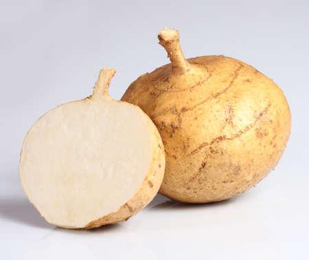 Jicama isolated on white background