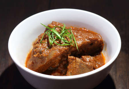 mutton: Malaysian style spicy meat dish