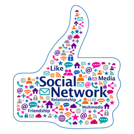Colorful Social Network icon design Vector