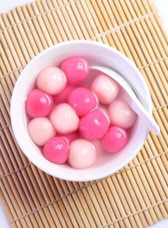 arroz chino: Tradicional chino bola de arroz dulce