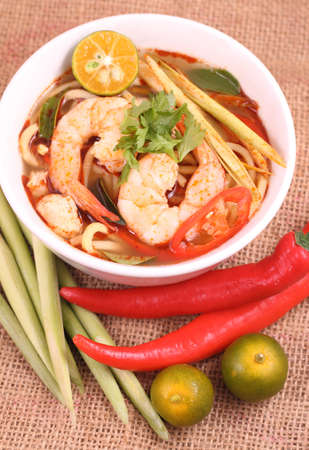 Tom Yam is one of Thailands favourite and most well known dish. photo